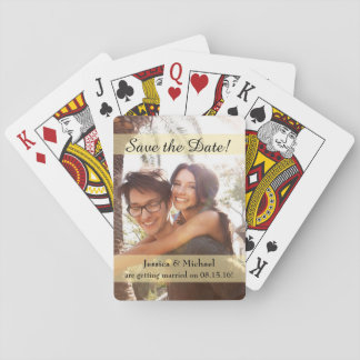 Custom Photo Wedding Save the Date Playing Cards