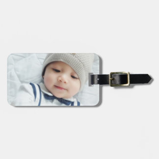 Custom Photo with Monogram and Name Luggage Tag