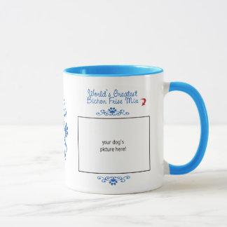 Custom Photo! Worlds Greatest Bichon Frise Mix Mug