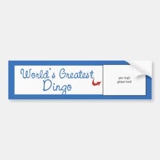 Custom Photo! Worlds Greatest Dingo Bumper Sticker
