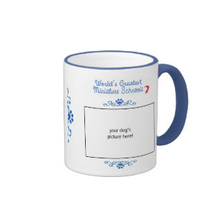 Custom Photo Worlds Greatest Miniature Schnoxie Mugs