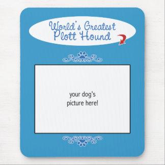 Custom Photo! Worlds Greatest Plott Hound Mouse Pad