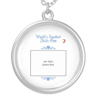Custom Photo! Worlds Greatest Shih-Poo Silver Plated Necklace