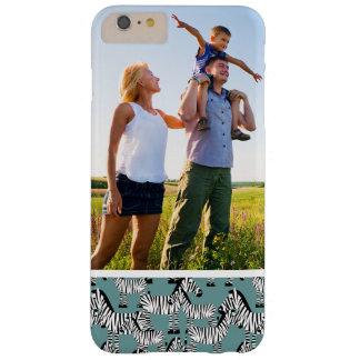Custom Photo Zebra Pattern Barely There iPhone 6 Plus Case