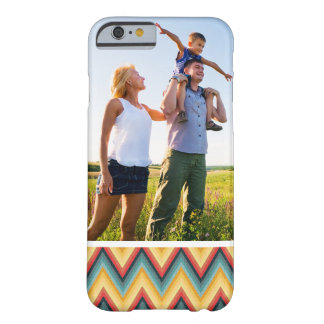 Custom Photo Zig Zag Striped Background 2 Barely There iPhone 6 Case