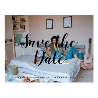 Custom Photograph romantic modern Save the Date Postcard