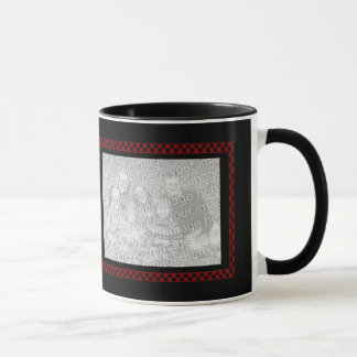 Custom Photos | Red Black Checkerboard Mug