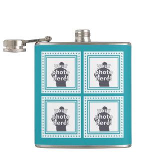 CUSTOM PHOTOS, TEXT & COLOR flask