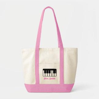 Custom Piano Music Tote Bag