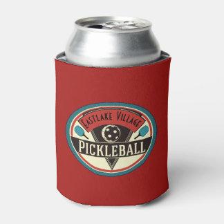 Custom Pickleball Team or Club Vintage Logo Can Cooler