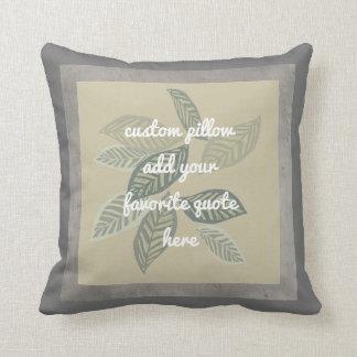 custom pillow add a quote artistic leaf design
