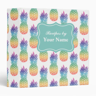 Custom pineapple fruit recipe binder cook book