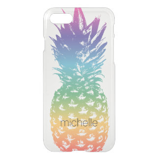 Custom pineapple transparent clear see through iPhone 7 case