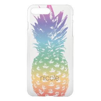 Custom pineapple transparent clear see through iPhone 8 plus/7 plus case