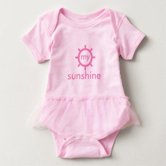 Custom Pink Baby Tutu Bodysuit