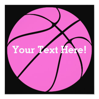 Custom Pink Basketball Card
