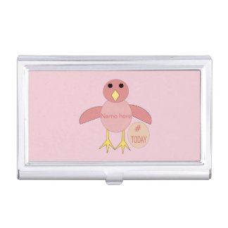 Custom Pink Birthday Girl Chick Business Card Holder