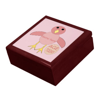Custom Pink Birthday Girl Chick Gift Box