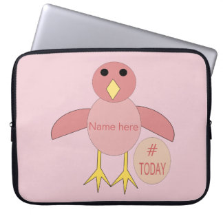Custom Pink Birthday Girl Chick Laptop Bag
