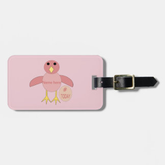 Custom Pink Birthday Girl Chick Luggage Tag
