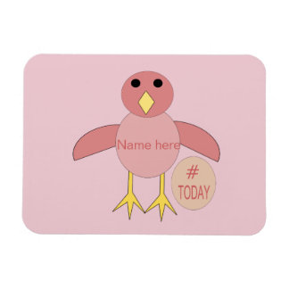 Custom Pink Birthday Girl Chick Magnet