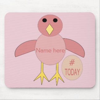 Custom Pink Birthday Girl Chick Mousepad