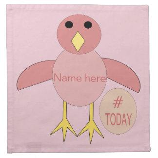 Custom Pink Birthday Girl Chick Napkins