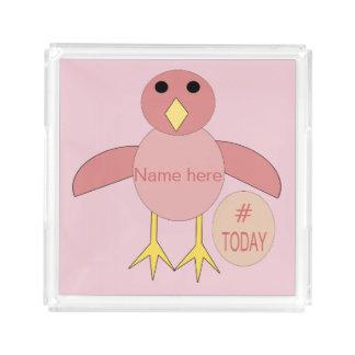 Custom Pink Birthday Girl Chick Perfume Tray
