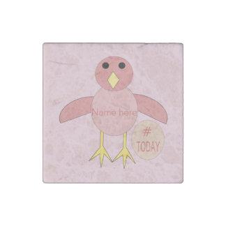 Custom Pink Birthday Girl Chick Stone Magnet Stone Magnets