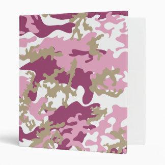 Custom Pink Camo School Binder