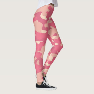 Custom Pink Camouflage Leggings