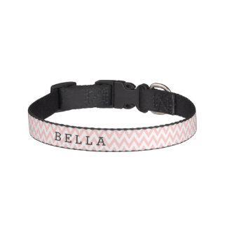Custom Pink Chevron Dog Collar