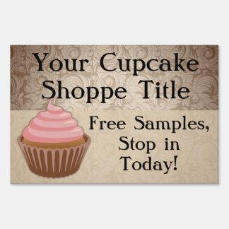 Custom Pink Cupcake Yard Sign