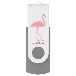 Custom pink flamingo bird swivel USB flash drive Swivel USB 2.0 Flash Drive