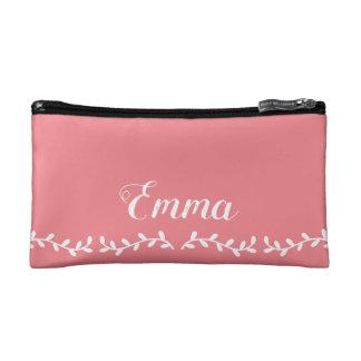 custom pink glamorous modern makeup toiletry bag