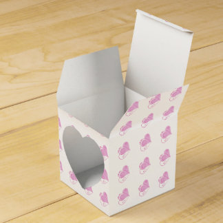 Custom Pink Hearts Favor Boxes