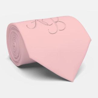 Custom Pink Monogrammed Tie