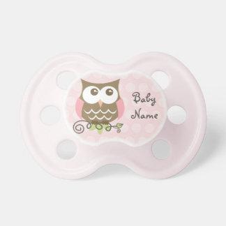 Custom Pink Owl Pacifier