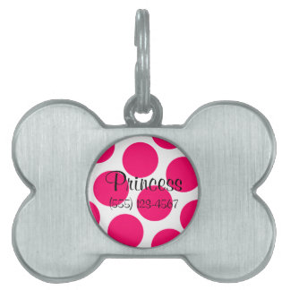 Custom Pink Polka Dot Tag