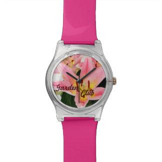 Custom Pink Tiger Lilly Garden Club Name Watch