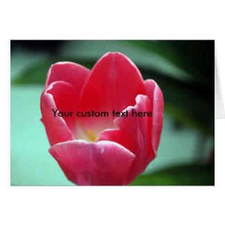 Custom Pink Tulip Card