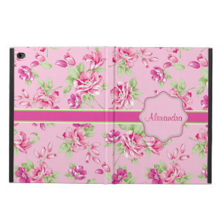 Custom Pink & Violet Red Roses on pink name Powis iPad Air 2 Case