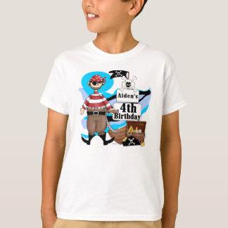 Custom Pirate 4th Birthday T-shirt