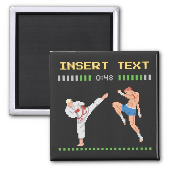 Custom Pixel Video Game Fight Magnet