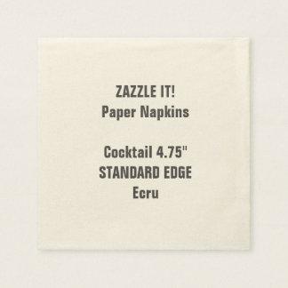 Custom Plain Edge Cocktail Paper Napkins Blank