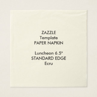 Custom Plain Edge Luncheon Paper Napkin Template