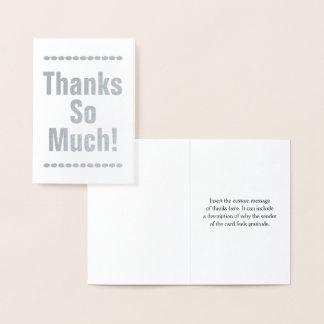 "Custom, Plain ""Thanks So Much!"" Card"