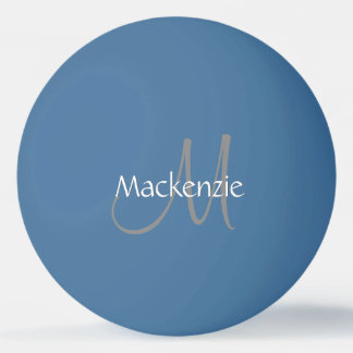 Custom Play | Monogram Name Script Chic Initial Ping Pong Ball