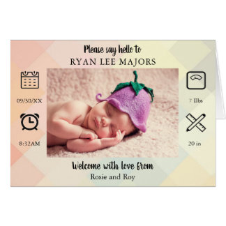 Custom Please Say Hello To | New Baby Card