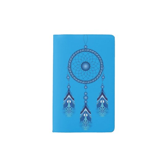 Custom Pocket Notebook with Blue Dreamcatcher
